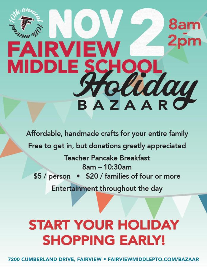 FMS Holiday Bazaar Flyer